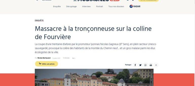 Lyon : un bois classé décimé sur la colline de Fourvière