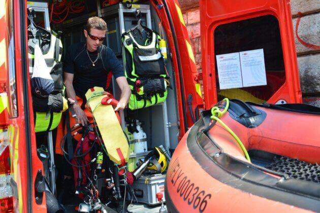 sapeur-pompier sauveteur Rhône
