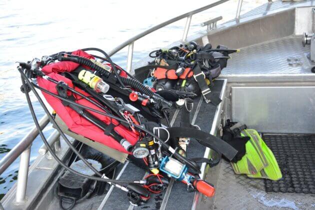 sac à dos sapeurs-pompiers plongeurs Rhône