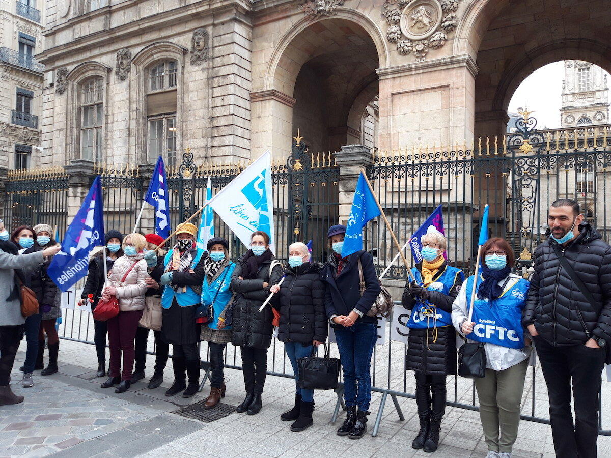 Ville de Lyon agents grève
