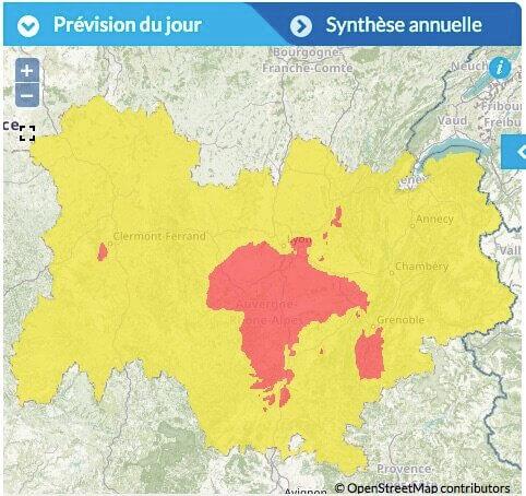 Pic de pollution ozone Lyon août