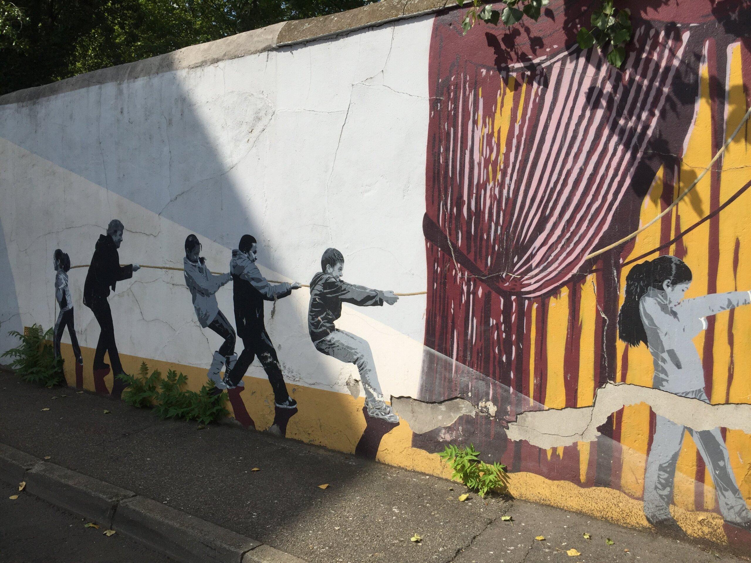 fresque mur ZAC quartier Saulaie