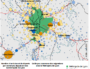 Départs et arrivées métropoles de Lyon, par l'Insee