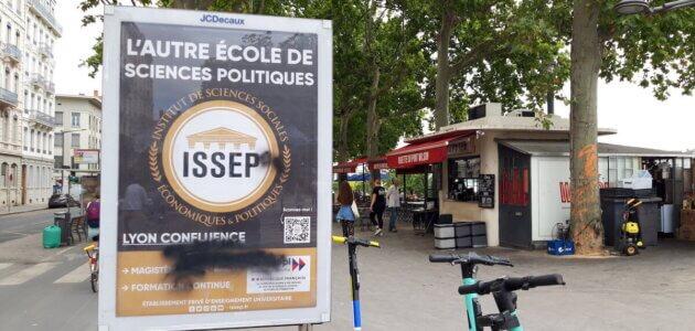 Extrême droite à Lyon : l'ISSEP, l'école de Marion Maréchal s'affiche en grand dans les rues