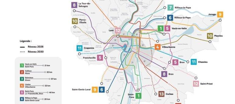 A Lyon, la Métropole dévoile les 13 lignes de son réseau express vélo
