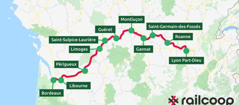 Ligne de train entre Lyon et Bordeaux: Railcoop met en cause la SNCF pour le retard